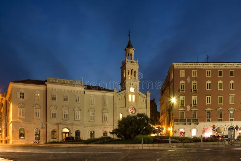 Helgon Francis Monastery och kyrka split croatia royaltyfri fotografi