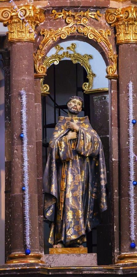 Helgon Francis Statue Convent Immaculate Conception San Miguel de Allende Mexico royaltyfria bilder