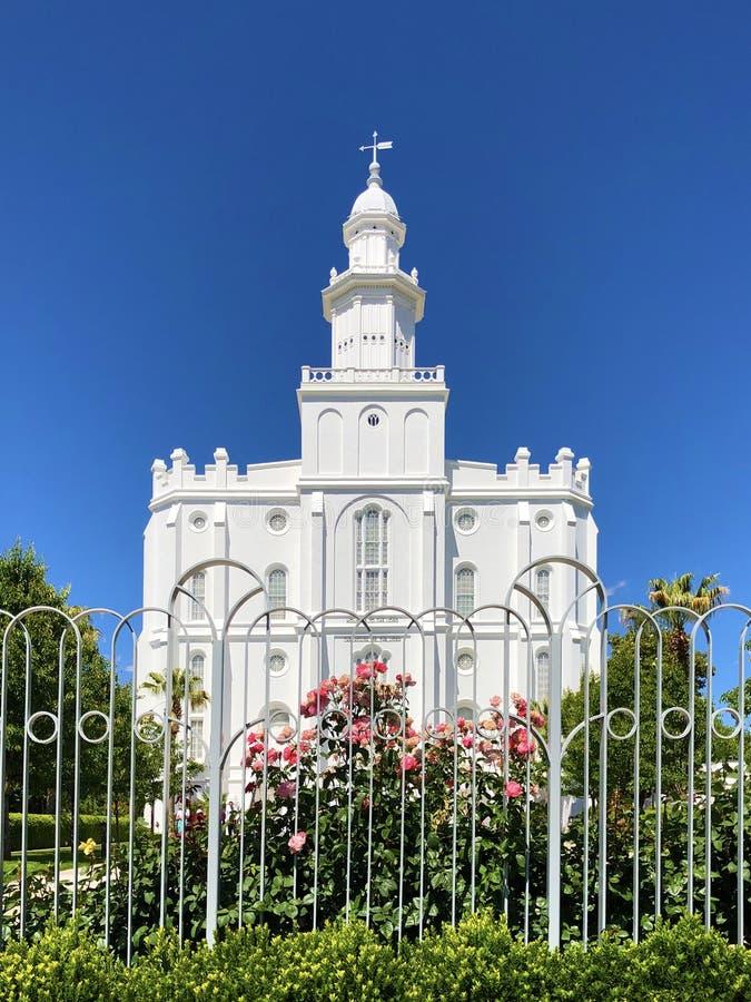 Helgon George Utah Church av Jesus Christ av nutida helgon Temople royaltyfri foto
