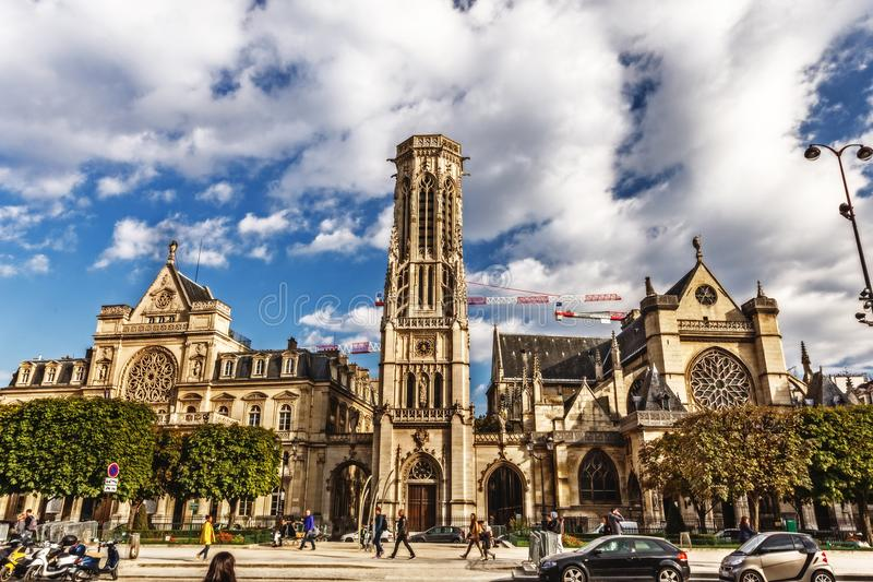 Helgon-Germain-l ` Auxerrois - Paris, Oktober 11, 2016 Katolik ch arkivfoton