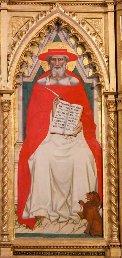 Helgon Hieronymus eller St Jerome på Santa Croce, Florence royaltyfria bilder