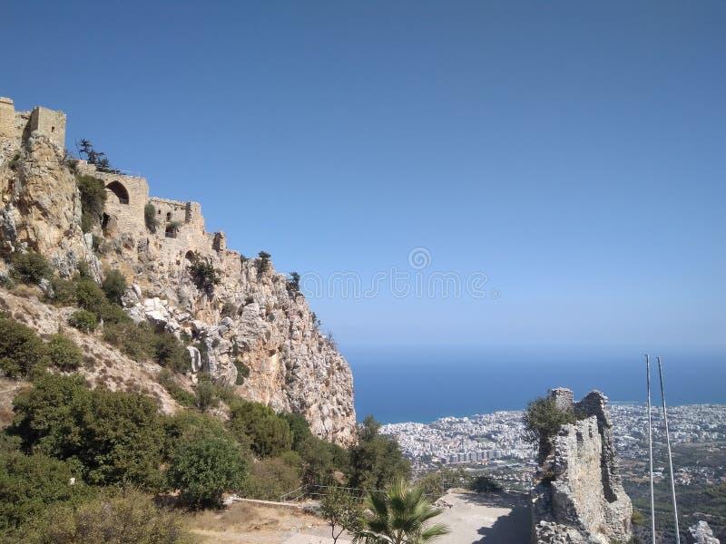 Helgon Illarione cyprus royaltyfri bild
