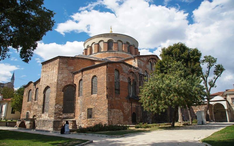 Helgon Irene Church i Istanbul, Turkiet arkivfoto