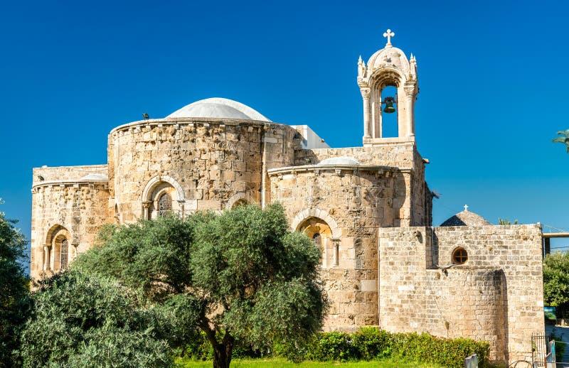 Helgon Jean-Marc Church i Byblos, Libanon royaltyfri bild