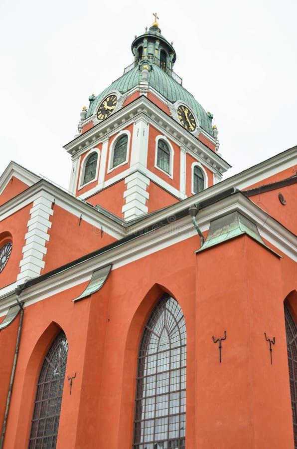 Helgon Johannes Church i Stockholm - Sverige royaltyfria foton