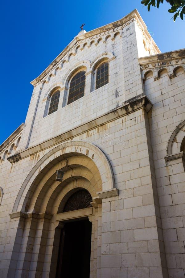 Helgon Joseph Church i Nazareth royaltyfri fotografi