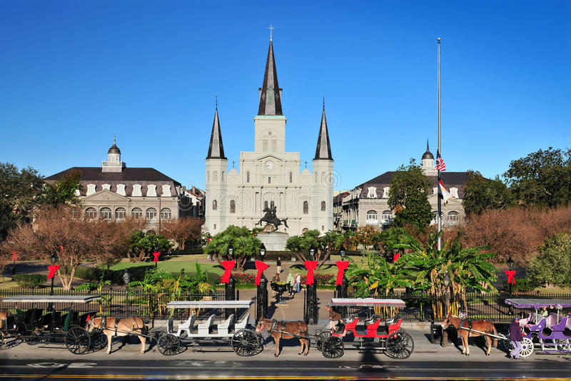 Helgon Louis Cathedral, New Orleans, Louisiana USA royaltyfria bilder