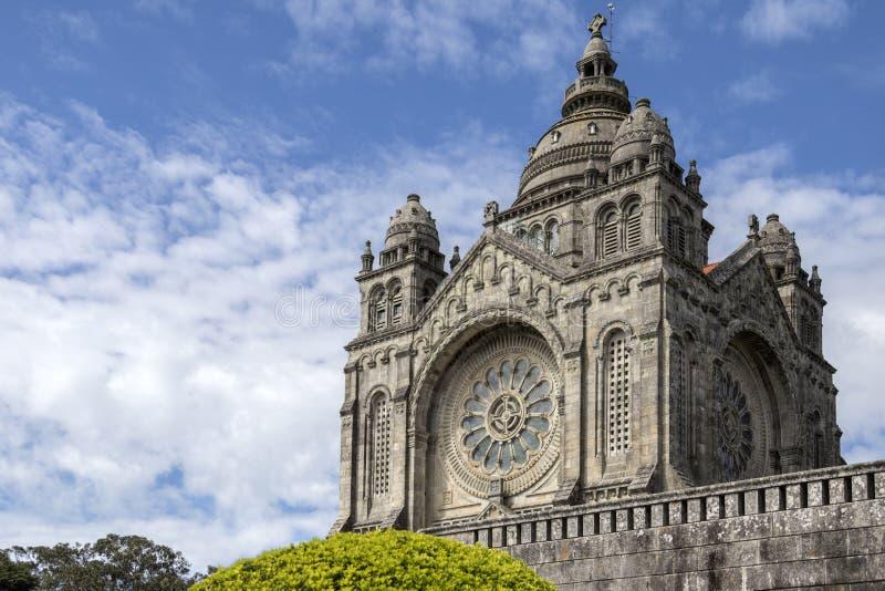 Helgon Lucia Basilica - Viana do Castelo - Portugal royaltyfria foton