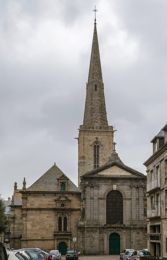 Helgon Malo Cathedral, Frankrike royaltyfri fotografi
