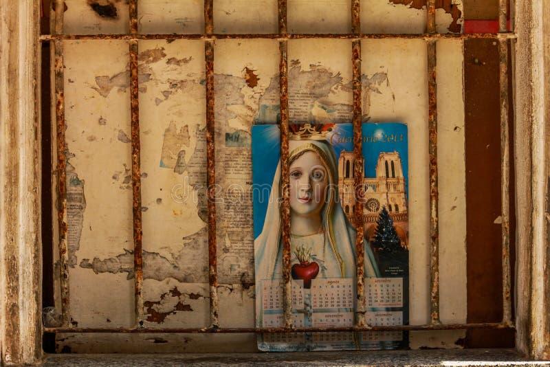Helgon Marie på kalendern royaltyfri bild