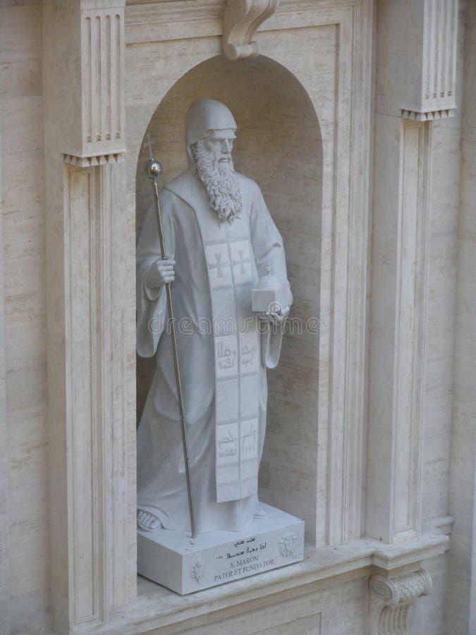 Helgon Maroun, Sts Peter basilika, Vatican City royaltyfria bilder