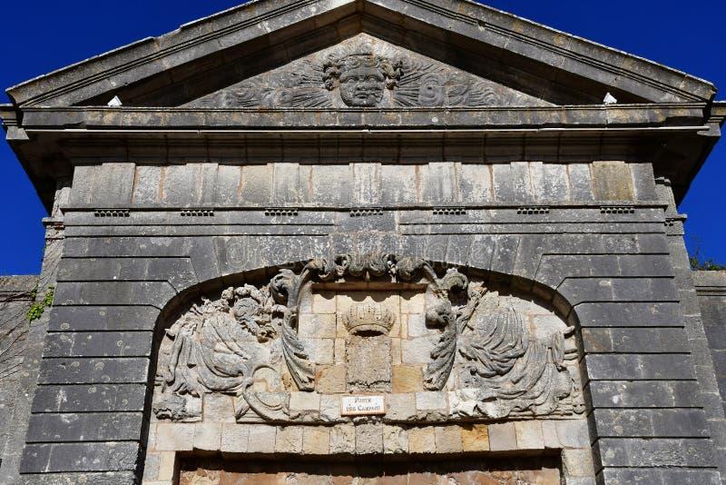 Helgon Martin de Re, Frankrike - september 26 2016: befästningar arkivbilder