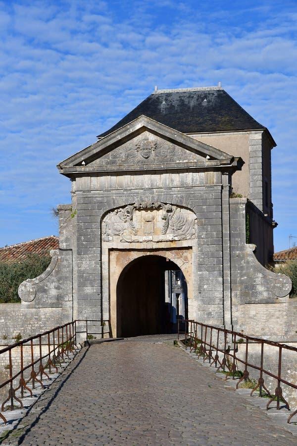 Helgon Martin de Re, Frankrike - september 26 2016: befästningar royaltyfri foto