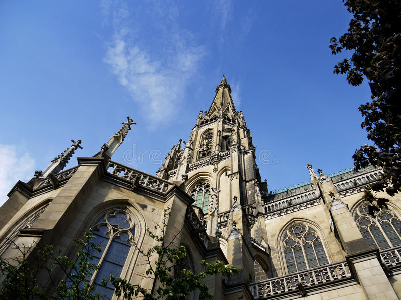 Helgon Mary Cathedral, Linz, Österrike royaltyfri foto