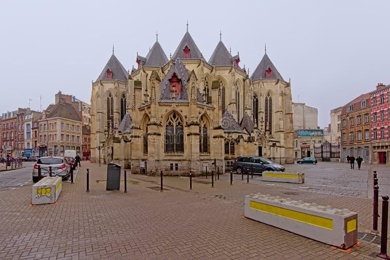 Helgon-Maurice kyrka i Lille, Frankrike fotografering för bildbyråer
