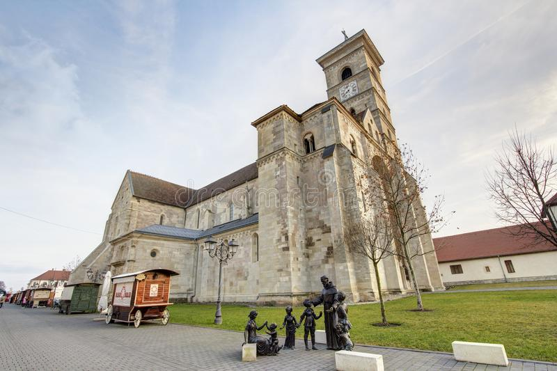 Helgon Michael Cathedral i Alba Iulia arkivbilder