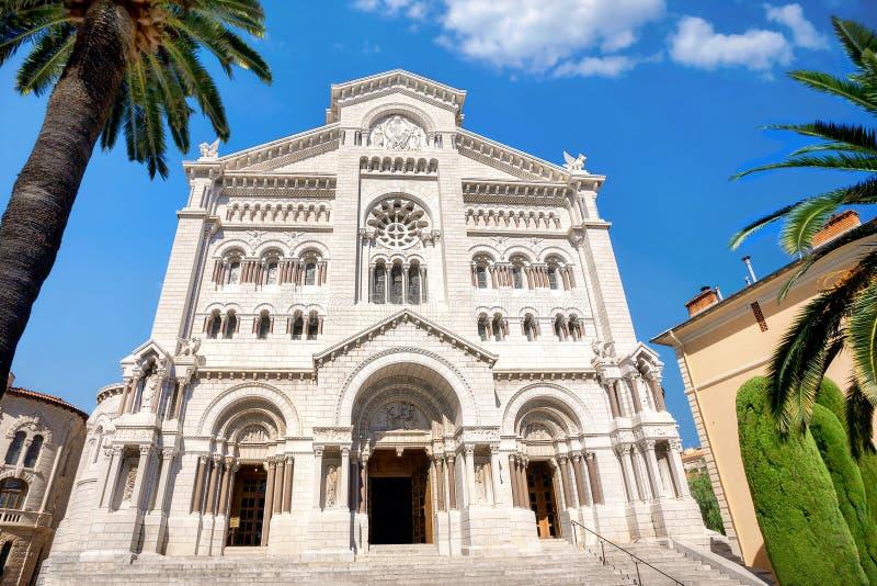 Helgon Nicholas Cathedral i Monaco, Monte - carlo arkivbilder