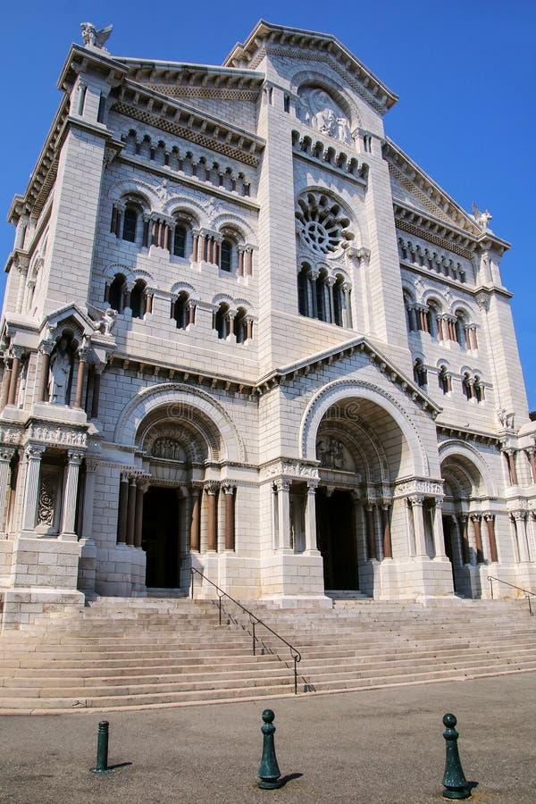 Helgon Nicholas Cathedral i Monaco-Ville, Monaco arkivbilder