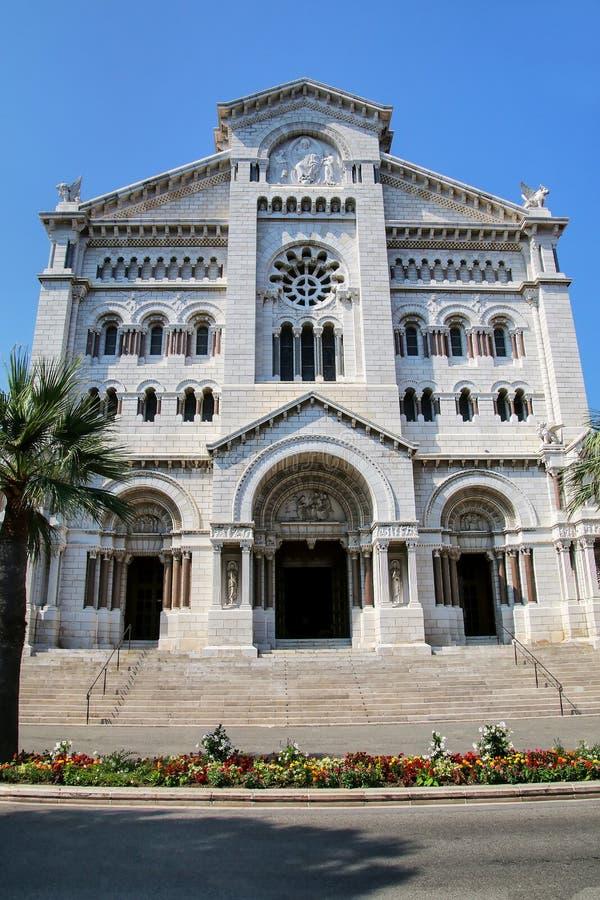 Helgon Nicholas Cathedral i Monaco-Ville, Monaco arkivfoto