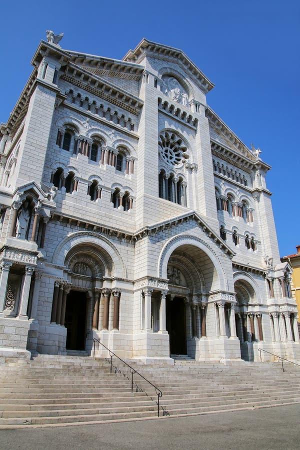 Helgon Nicholas Cathedral i Monaco-Ville, Monaco royaltyfri foto