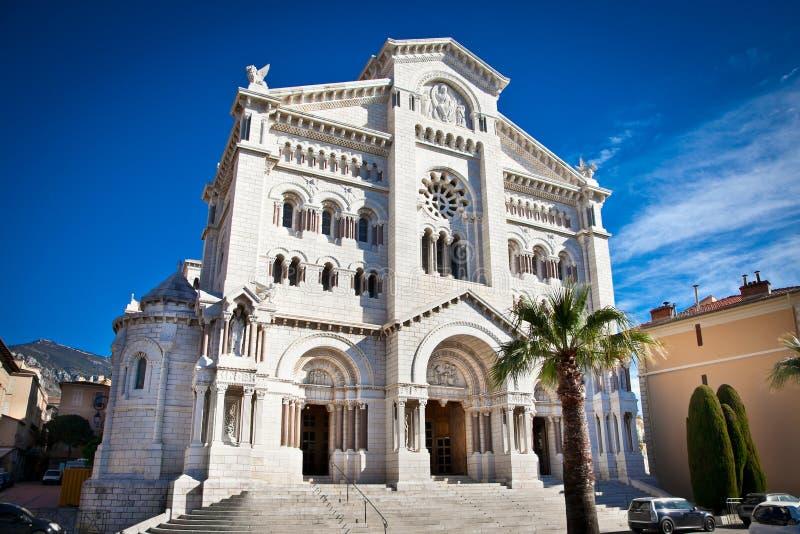 Helgon Nicholas Cathedral i Monte - carlo, Monaco arkivbild