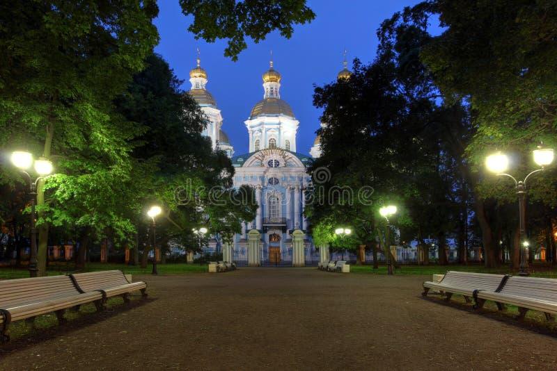 Helgon Nicholas Cathedral, St Petersburg, Ryssland royaltyfri foto