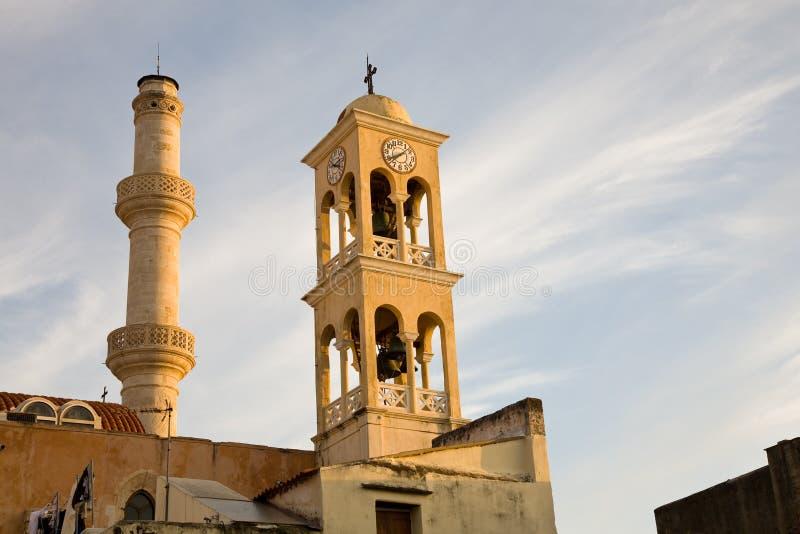 Helgon Nicolas Church, Chania, Kreta arkivbild