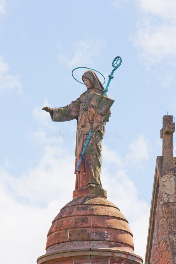Helgon Odile - helgonet av Alsace fotografering för bildbyråer