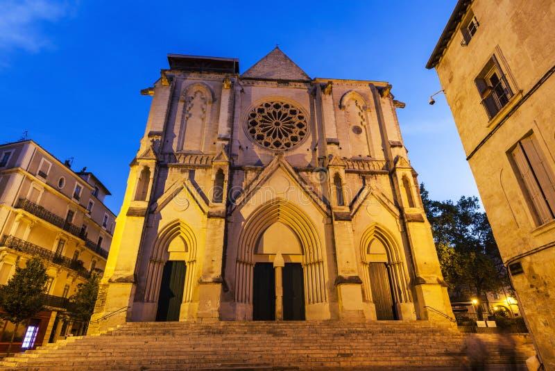 Helgon Roch Church i Montpellier royaltyfri fotografi