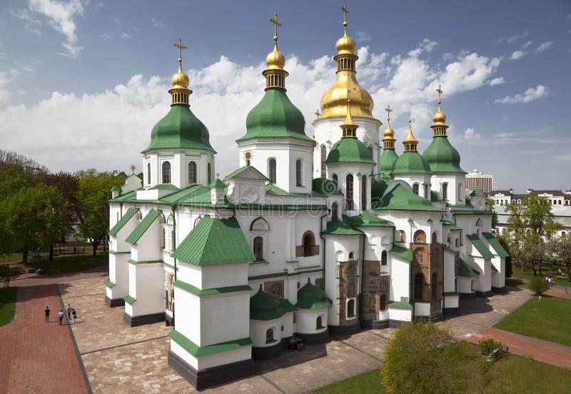 Helgon Sophia Cathedral i Kiev. Ukraina royaltyfri bild