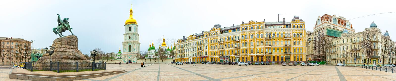 Helgon Sophia Church i Kiev arkivbild