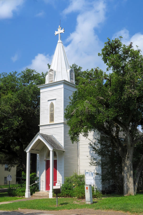 Helgon Stephens Episcopal Church i Goliad Texas royaltyfri bild