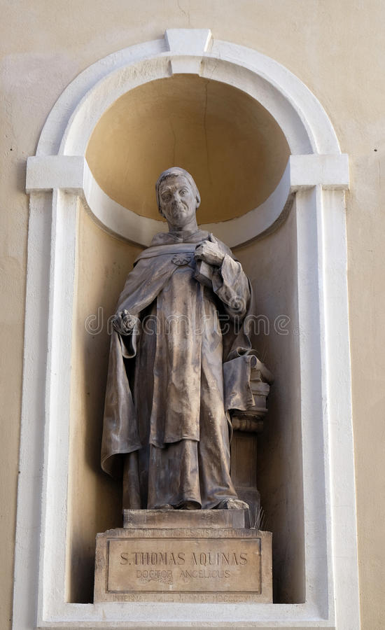 Helgon Thomas Aquinas royaltyfria bilder