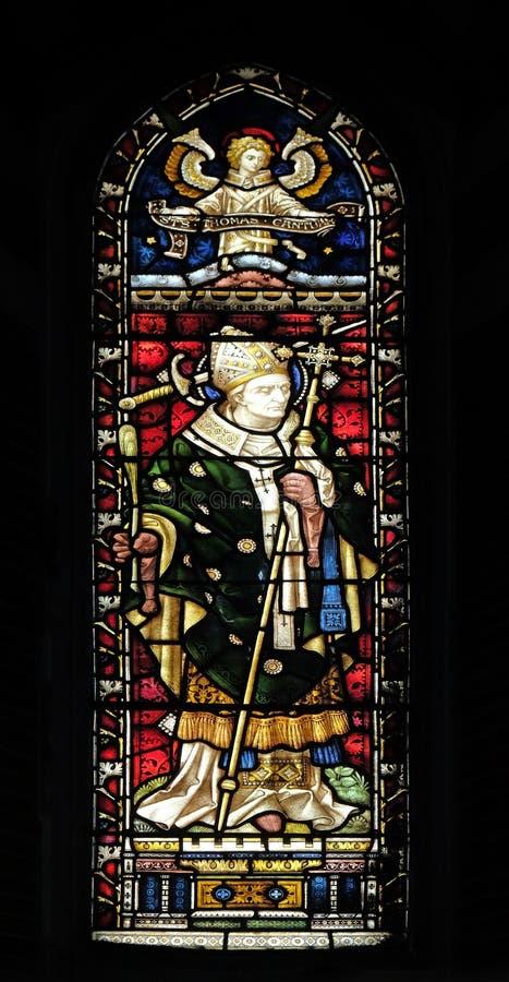 Helgon Thomas Becket royaltyfria foton