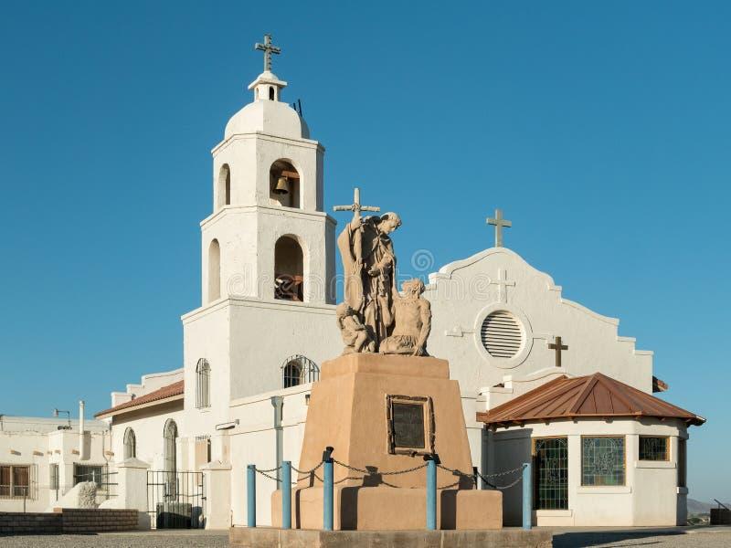 Helgon Thomas Indian Mission, Yuma, Arizona fotografering för bildbyråer
