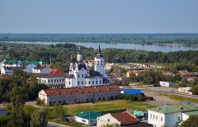 Helgon Zachary och Elisabeth Church Tobolsk Ryssland fotografering för bildbyråer