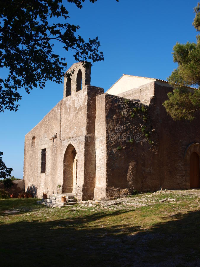 HelgonAnthony The Abbot kyrka, Erice, Sicilien, Italien royaltyfria bilder