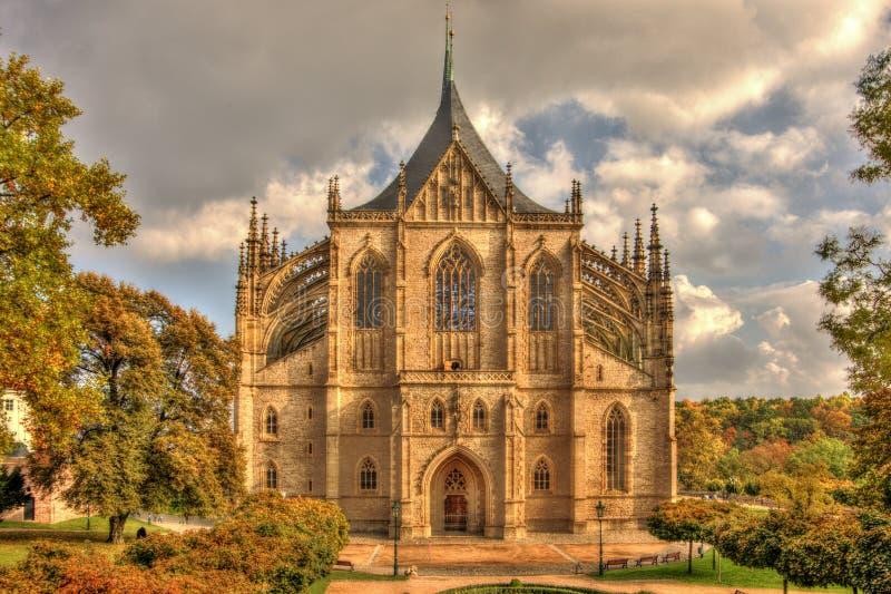 HelgonBarbaras kyrka royaltyfri bild