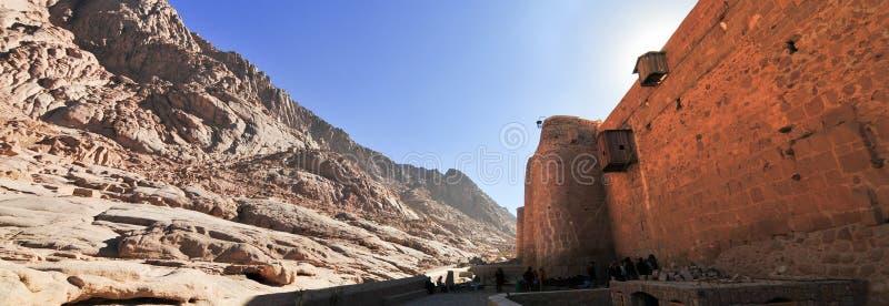 HelgonCatherines kloster - Sinai halvö, Egypten arkivbild