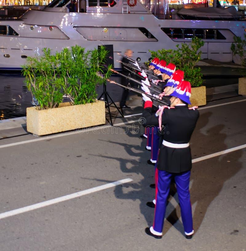 "HelgonDevota berömmar i Monaco †""2015 royaltyfri fotografi"