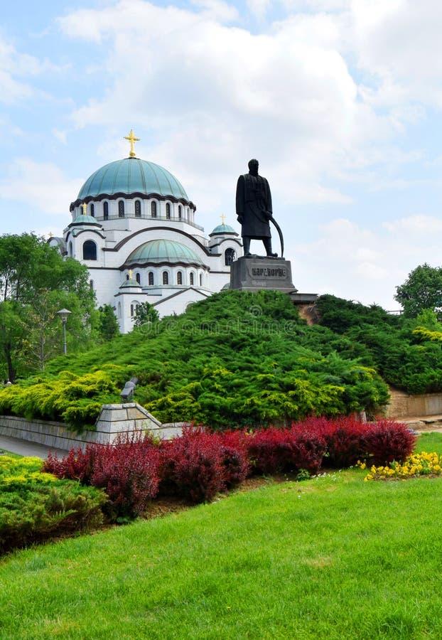 Helgonet Sava Cathedral Belgrade Serbia royaltyfri foto