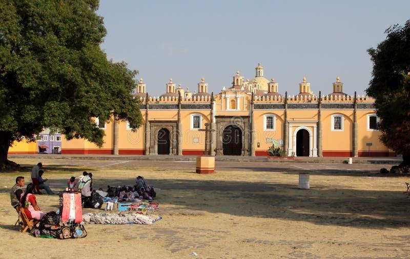 HelgonGabriel Archangel munkkloster, Cholula, Puebla, Mexico arkivbild