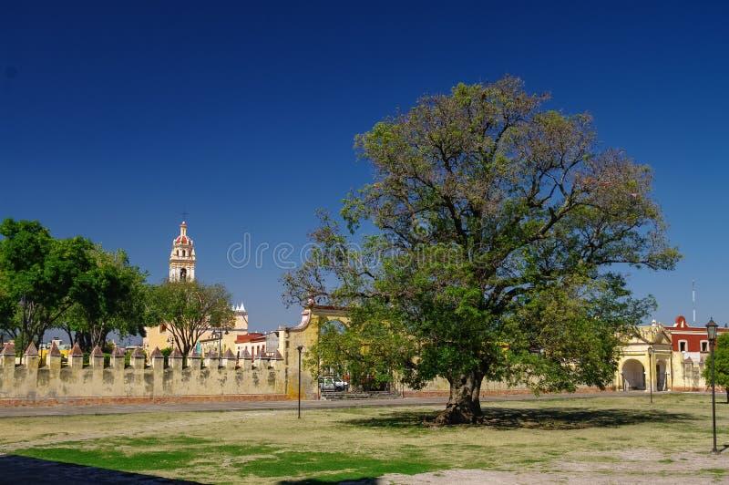 HelgonGabriel Archangel munkkloster Convento de San Gabriel, Cholul royaltyfria bilder
