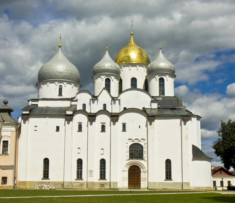 HelgonSophia domkyrka, stora Novgorod, Ryssland royaltyfri foto