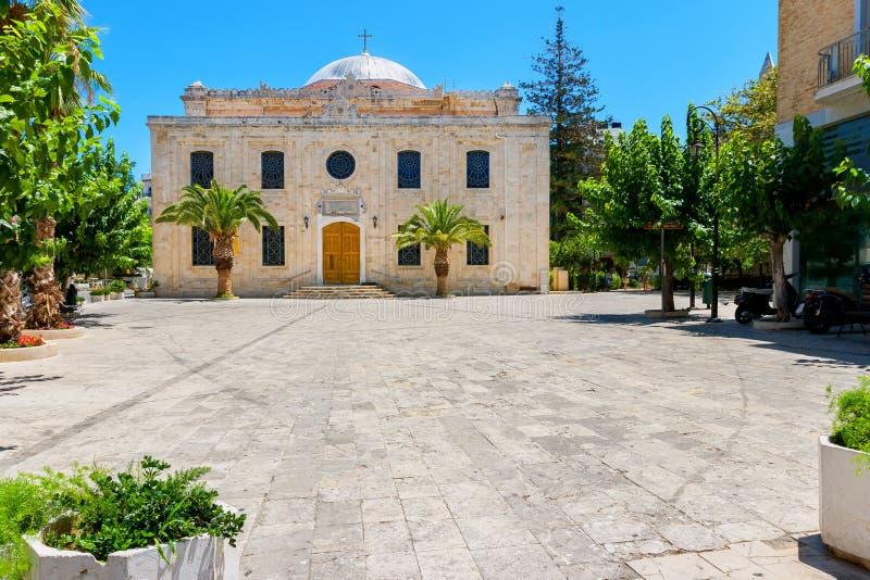 HelgonTitos kyrka. Heraklion Kreta arkivbild