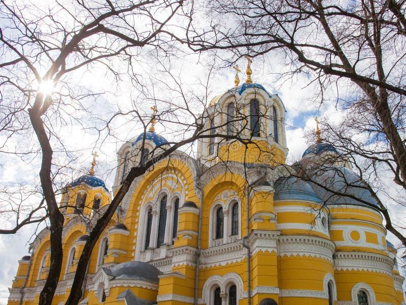 HelgonVolodymyr ortodox domkyrka i Kyiv, Ukraina fotografering för bildbyråer