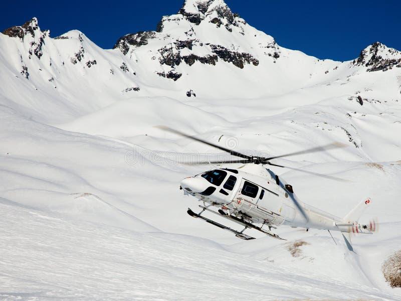 heli滑雪 免版税库存图片