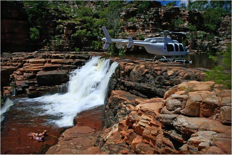 Download Heli Picnic In The Kimberley Stock Photo - Image of rocks, waterfall: 7619240