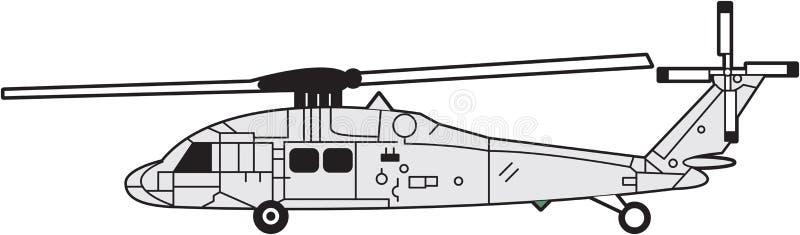 Helicóptero stock de ilustración