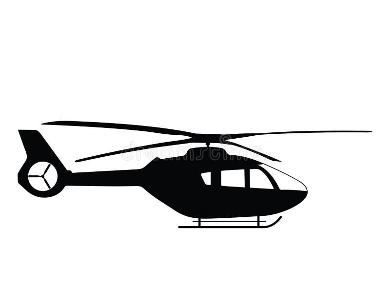 Helicóptero ilustração royalty free
